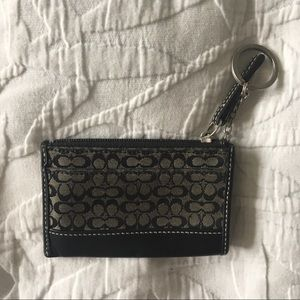 Coach Card Case Wallet with Key Ring